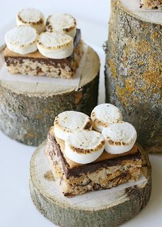 S'mores Rice Krispie treats - making these for a tailgate this fall for sure!