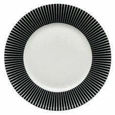 Zebra, assiette plate en porcelaine noire et blanche - Fly
