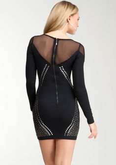Studded Long Sleeve Dress 2