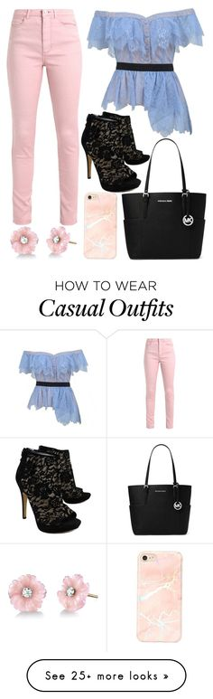 """""""Casual Pop"""" by fashionvoice7 on Polyvore featuring self-portrait, Via Spiga, MICHAEL Michael Kors and Irene Neuwirth"""
