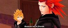 • 1k * kingdom hearts roxas Axel graphic:gif akuroku edit:kh gif:kh graphic:photoset graphic:edit game:kh you taking him on a date or nah rukias •