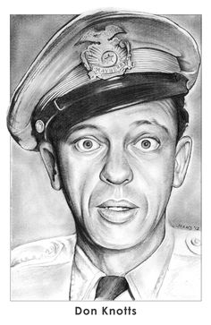 Don Knotts by gregchapin on deviantART ~ character Barney Fife on The Andy Griffith Show ~ artist Greg Joens