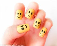 Smiley face nails :)