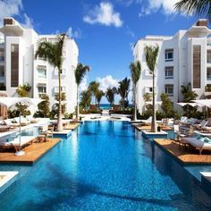 Endless pool at the Gansevoort Hotel in Turks and Caicos Islands