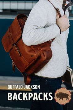 Amazing collection of leather and canvas backpacks. Impressive quality and attention to detail. Made with premium leather or the most durable of canvases, with plenty of room for all your work, sport, or travel products. Fill it with all you need for work or a day's travel. #mensbags #mensfashionrugged #backpacksforgrownups