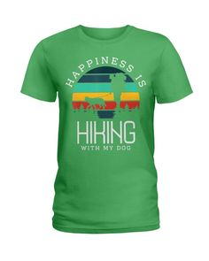 Happiness is hiking with my Dog Gifts Hike Climbing Dog Love - Irish Green hiking necessities, hiking theme party, summer hiking #VanAdieu #ValentinesGifts #HikingGifts, dried orange slices, yule decorations, scandinavian christmas Hiking Gifts, Hiking Dogs, Rottweiler Puppies, Yule Decorations, Scandinavian Christmas, Dog Gifts, Dog Love, Climbing, Party Themes