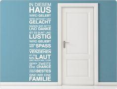 """Wandtattoo Spruch 11567 """"In diesem Haus"""" Wanddeko von I-love-Wandtattoo auf DaWanda.com"""