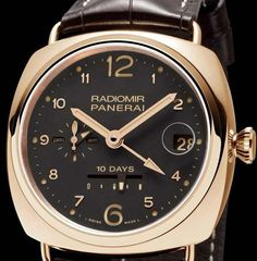 Panerai Radiomir 10 Days. Gold