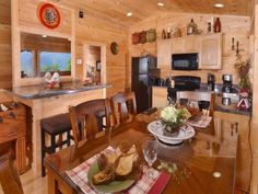 Cabins In Gatlinburg Tn, Big Screen Tv, Table Settings, Luxury, Interior, Indoor, Place Settings, Interiors, Tablescapes