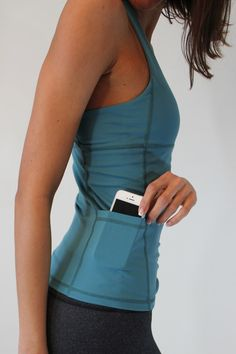Marathon Tank - Muted Blue from http://www.senitaathletics.com/ Perfect workout tank! Incredible price