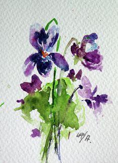 Watercolor Print, Watercolor Flowers, Watercolor Paintings, Flower Paintings, Sweet Violets, Framed Prints, Canvas Prints, Art Fair, Paintings For Sale