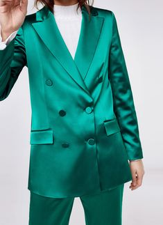 Uterqüe Denmark Product Page - New in - Ready to wear - Green blazer - 1490