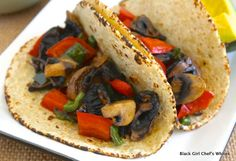 Roasted Mushroom-Pepper Tacos | Black Girl Chef's Whites