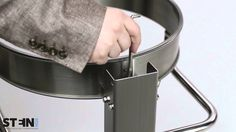 Müllsackständer -Cubo Sancho-, 120 Liter aus Edelstahl, fahrbar