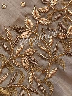 Renovate your Wardrobe, We provide customization in Designer Blouses & women ethnic wear. that reflect Amazing Handwork & Unique Zardosi Art at Your Budget & time, Worldwide Delivery. Zardosi Embroidery, Hand Embroidery Dress, Bead Embroidery Patterns, Embroidery Suits Design, Embroidery On Clothes, Couture Embroidery, Embroidery Fashion, Hand Embroidery Designs, Beaded Embroidery