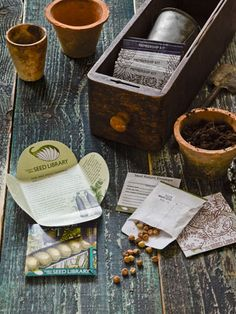 Join a seed library, where members borrow organic, heirloom seeds and return them after harvesting. #countryliving #gardentips