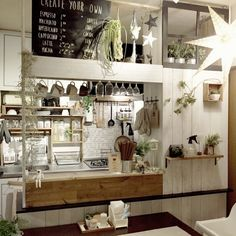 Home Decorators Collection Blinds Small House Living, Rustic Home Design, Cute Kitchen, Diy Home Decor On A Budget, Vintage Kitchen Decor, Cozy Place, Cafe Interior, Kitchen Design, House Design