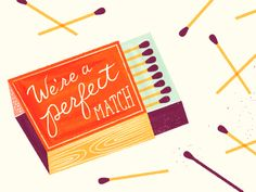 match by Samantha Johnson Following - clever text with modern supporting illustration
