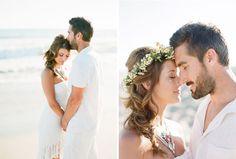 End of Summer Bohemian Shoot on the Beach  Magnolia Event Design  Tenley Erin Young  Beach Head wreath wedding