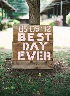 wooden reception sign southern weddings