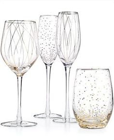 It's always a party with this festive glassware set by Mikasa