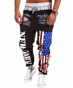 Loose Fit Stilvolle Lace-Up Buchstabe-Druck-Farben-Block Rib Splicing Strahl Feet Polyester Jogginghose für Männer - Copy