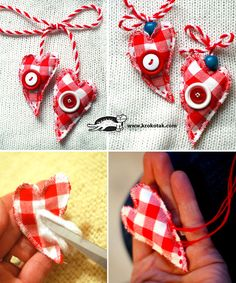 FABRIC and BUTTONS Martenitsas
