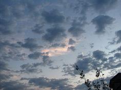Ein wunderschönes Farbspiel am Himmel bei Eva...