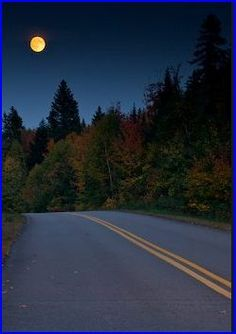 Moon and highway