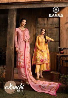 2662ceba87 Hansa prints Kanchi vol 1 Digital printed crepe salwar kameez catalog  wholesale price surat at Wholesale Price. INR 9450 pcs 10. Crepe Latest  catalog Kanchi ...