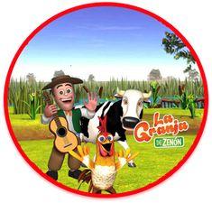 Kit imprimible candy bar La Granja de Zenon 3 para eventos | Candy Bar Gratis Farm Birthday, Farm Party, Party Themes, Decoupage, Mickey Mouse, Diy And Crafts, 1, Printables, Baby Shower