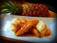 Recipe for making a delicious Caribbean dessert with grilled pineapples. On its own or paired with ice cream, this grilled pineapple with caramel rum sauce is delightful. Check http://youtu.be/pELWlvNUN6o to learn how to peel and core a pineapple.   Youll Need...  Grilled Pineapple With Caramel Rum Sauce.  Pineapple 1/2 cup dark rum 1/2 cup br...