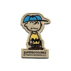 SUPER BOO HOMES (superbooholmes) Charlie Brown patch (PEANUTS / Snoopy) SBH-1084902 natural one size @ niftywarehouse.com #NiftyWarehouse #Peanuts #CharlieBrown #Comics #Gifts #Products