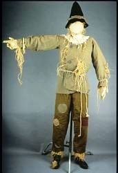 Scarecrow costume from the Wizard of Oz worn by Ray Bolger -1939
