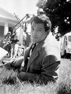 Rock Hudson photographed on the set of Giant by Peter Basch, 1955.