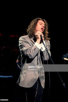 Michael Hutchence of INXS at the Poplar Creek Music Theater In Hoffman Estates, Illinois, June 24, 1988.
