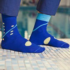 Socke Halley Designkollektion 'Blaustich' - Männer Socken|Strümpfe  #dottedsocks #mensocks #socks #colorfulsocks #streetstyle #menstyle #accessories