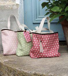 the personalised polka dot linen bag by sarah hardaker | notonthehighstreet.com