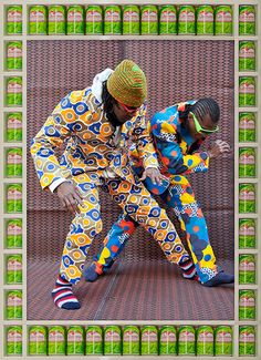 Credit: Hassan Hajjaj Pastel and Marcio 2012 Metallic lambda print on dibond with wood and found objects frame African Inspired Fashion, African Men Fashion, Africa Fashion, Ankara Fashion, African Women, Ethnic Fashion, Andy Warhol, Kitenge, 3d Foto