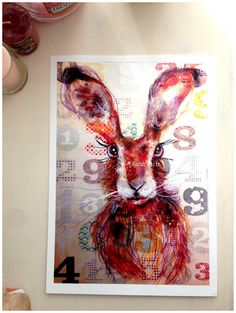Number Hare by ArtbySarahWhite on Etsy