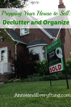 Learn how to declutter your house the 'Annie and Everything' way in this second part of a series about prepping your house to sell.