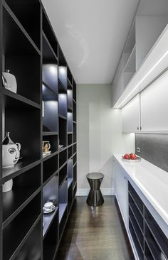 Featured in International Book publication 'Kitchen Inspiration' Stainless steel, Silestone Quartz benchtops, with textured lacquered wall cabinetry, electronic opening drawers and doors Oriental, Glamour, Laundry In Bathroom, Cool Kitchens, Pantry, Designer, Drawers, Interior Design, Wall
