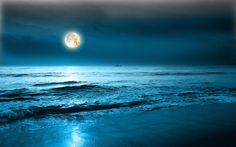 Sea and the moon iPhone wallpaper Free, iPhone 4 wallpaper, iPod Touch, HD iphone wallpapers Good Night Beautiful, Beautiful Moon, Beautiful Places, Amazing Places, Beautiful People, Moon Pictures, Beach Pictures, Moon Dance, Ocean Wallpaper