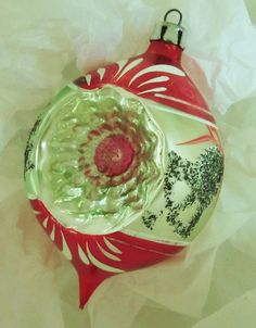 Vintage-50s-60s-Christmas Ornament-Mercury-Glass Ornament-Silver Bells-Silver Glitter-Convex-Tunnel Ornament-Hand Blown Ornament-German, via Etsy.