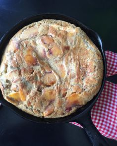 Peach Dutch Baby made with @ottosnaturals Cassava Flour. Sauté sliced and peeled peaches in browned butter, cinnamon and some nutmeg in a small cast iron skillet. In a bowl, blend 6 eggs, about 3/4 C @ottosnaturals Cassava Flour, 3/4 C coconut milk, powdered vanilla bean, 1/4 C coconut sugar, and salt. Pour over the sautéed peaches and baked for 20 mins in a 425 degree oven. Recipe courtesy of @flametofork via Instagram.