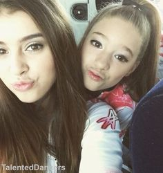 Kenzie & Kalani taking selfies while on their way to a comp a while back