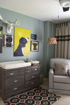 This sweet nursery is ALL-BOY! What a fun gallery wall.
