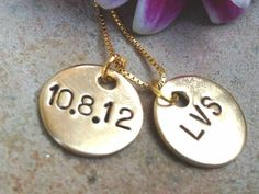 Initial Necklace Gold Personalized Necklace by natashaaloha, $39.00