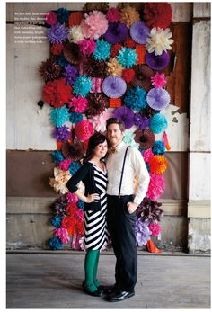 Paper decoration wedding backdrop from Mollie Makes Magazine - Get Hitched