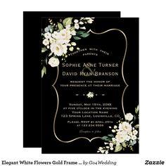 Black And White Wedding Theme, Black And White Wedding Invitations, Gold Wedding Theme, Elegant Invitations, Elegant Wedding Invitations, Green Wedding, Wedding Colors, Wedding Ideas, Invites